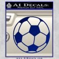 Custom Soccer Decal Sticker Blue Vinyl 120x120