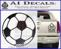 Custom Soccer Decal Sticker Carbon FIber Black Vinyl 120x97