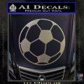 Custom Soccer Decal Sticker Carbon FIber Chrome Vinyl 120x120