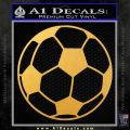 Custom Soccer Decal Sticker Gold Vinyl 120x120