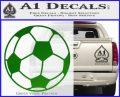 Custom Soccer Decal Sticker Green Vinyl Logo 120x97
