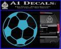 Custom Soccer Decal Sticker Light Blue Vinyl 120x97