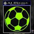 Custom Soccer Decal Sticker Lime Green Vinyl 120x120