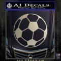 Custom Soccer Decal Sticker Metallic Silver Emblem 120x120