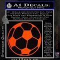 Custom Soccer Decal Sticker Orange Emblem 120x120