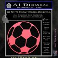 Custom Soccer Decal Sticker Pink Emblem 120x120