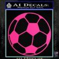 Custom Soccer Decal Sticker Pink Hot Vinyl 120x120