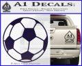 Custom Soccer Decal Sticker PurpleEmblem Logo 120x97
