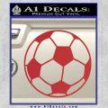 Custom Soccer Decal Sticker Red 120x120