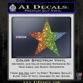 Custom Star Decal Sticker Glitter Sparkle 120x120