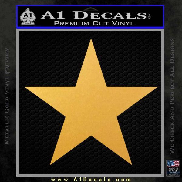 Custom Star Decal Sticker Gold Vinyl