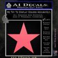 Custom Star Decal Sticker Pink Emblem 120x120