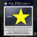 Custom Star Decal Sticker Yellow Laptop 120x120