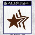 Custom Star Echo Decal Sticker BROWN Vinyl 120x120