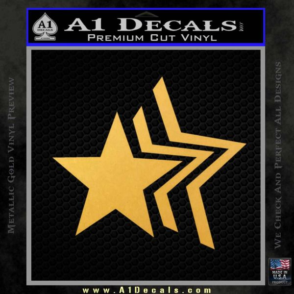 Custom Star Echo Decal Sticker Gold Vinyl