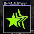 Custom Star Echo Decal Sticker Lime Green Vinyl 120x120