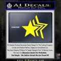 Custom Star Echo Decal Sticker Yellow Laptop 120x120