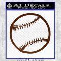 Customizable Baseball 3D Decal Sticker BROWN Vinyl 120x120