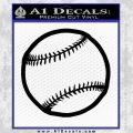Customizable Baseball 3D Decal Sticker Black Vinyl 120x120