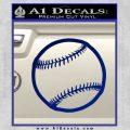 Customizable Baseball 3D Decal Sticker Blue Vinyl 120x120