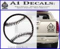 Customizable Baseball 3D Decal Sticker Carbon FIber Black Vinyl 120x97