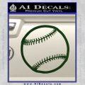 Customizable Baseball 3D Decal Sticker Dark Green Vinyl 120x120