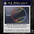 Customizable Baseball 3D Decal Sticker Glitter Sparkle 120x120