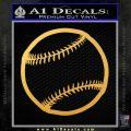 Customizable Baseball 3D Decal Sticker Gold Vinyl 120x120
