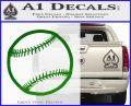 Customizable Baseball 3D Decal Sticker Green Vinyl Logo 120x97