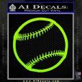 Customizable Baseball 3D Decal Sticker Lime Green Vinyl 120x120