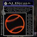 Customizable Baseball 3D Decal Sticker Orange Emblem 120x120