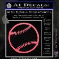 Customizable Baseball 3D Decal Sticker Pink Emblem 120x120