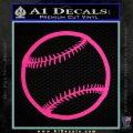 Customizable Baseball 3D Decal Sticker Pink Hot Vinyl 120x120