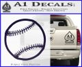 Customizable Baseball 3D Decal Sticker PurpleEmblem Logo 120x97