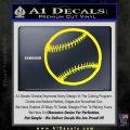 Customizable Baseball 3D Decal Sticker Yellow Laptop 120x120