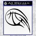 Customizable Basketball Blaze Decal Sticker Black Vinyl 120x120