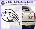 Customizable Basketball Blaze Decal Sticker Carbon FIber Black Vinyl 120x97