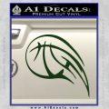 Customizable Basketball Blaze Decal Sticker Dark Green Vinyl 120x120