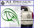 Customizable Basketball Blaze Decal Sticker Green Vinyl Logo 120x97