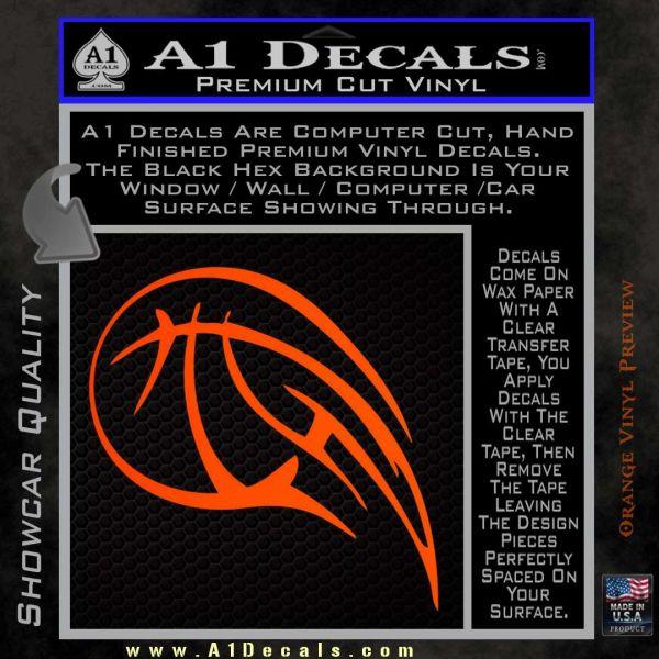 Customizable Basketball Blaze Decal Sticker Orange Emblem