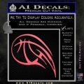 Customizable Basketball Blaze Decal Sticker Pink Emblem 120x120