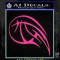 Customizable Basketball Blaze Decal Sticker Pink Hot Vinyl 120x120