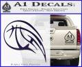 Customizable Basketball Blaze Decal Sticker PurpleEmblem Logo 120x97