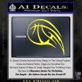 Customizable Basketball Blaze Decal Sticker Yellow Laptop 120x120