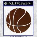 Customizable Basketball Decal Sticker D1 BROWN Vinyl 120x120