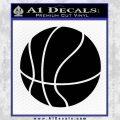 Customizable Basketball Decal Sticker D1 Black Vinyl 120x120