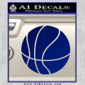 Customizable Basketball Decal Sticker D1 Blue Vinyl 120x120