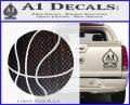 Customizable Basketball Decal Sticker D1 Carbon FIber Black Vinyl 120x97