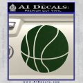 Customizable Basketball Decal Sticker D1 Dark Green Vinyl 120x120