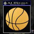 Customizable Basketball Decal Sticker D1 Gold Vinyl 120x120
